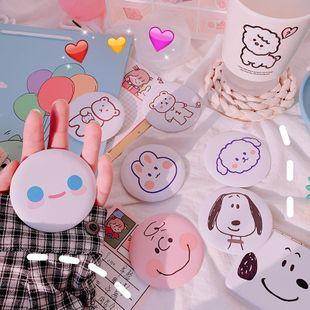Korean cute mini portable mirror girl heart makeup mirror student creative portable small round mirror vanity mirror wholesale nihaojewelry NHZE220577's discount tags