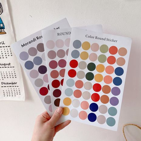 color dot sticker sealing sticker girl cute and beautiful hand account wall card photo sticker wholesale nihaojewelry NHZE220587's discount tags