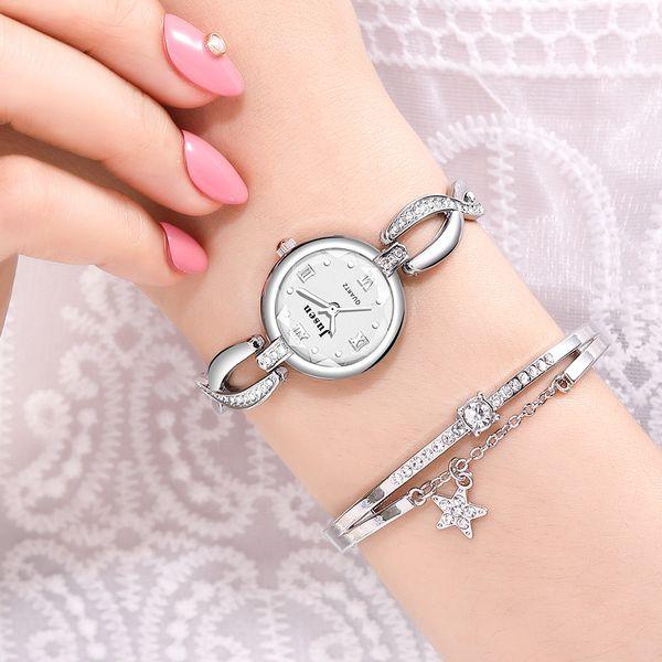 Sweet and Small Fine Bracelet Ladies Watch Fashion Diamond-cut Water Cut Face Bright Student Pulsera al por mayor nihaojewelry NHSS220607