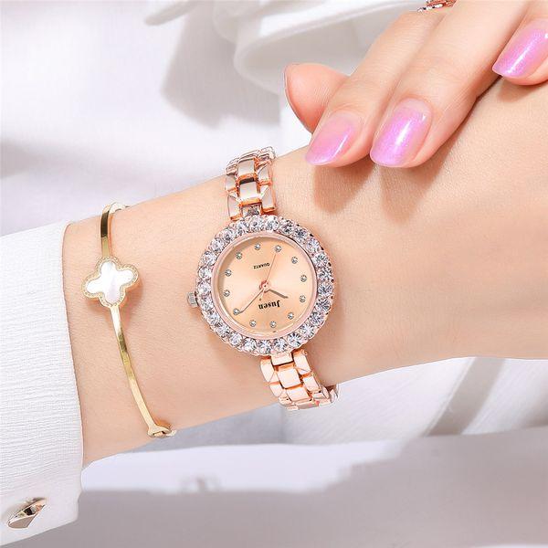 Women's Watch Fashion Trend Diamond Bracelet Watch Temperament Women's Steel Belt Fashion Watch wholesale nihaojewelry NHSS220614