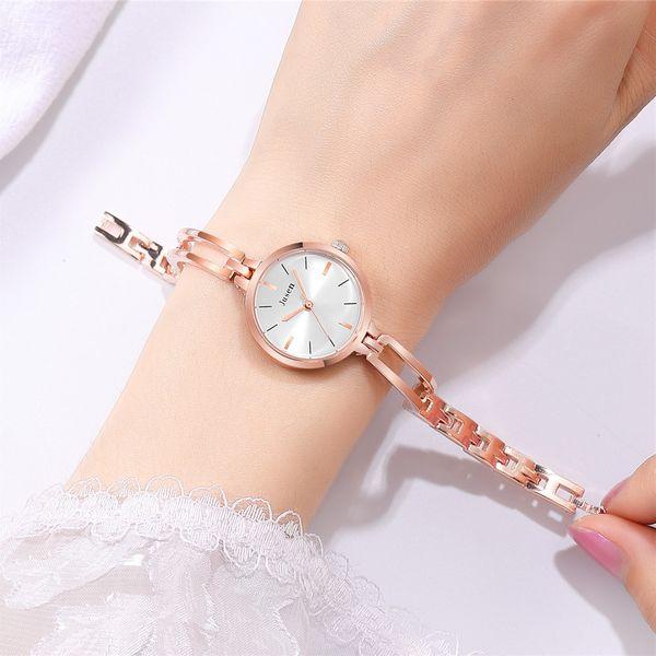trend compact small dial watch student steel belt bracelet watch fashion rose gold quartz watch wholesale nihaojewelry NHSS220617