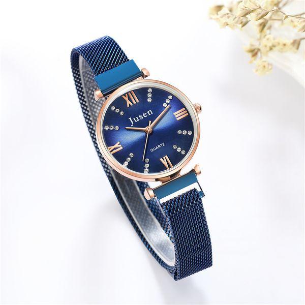 fashion diamond magnet with bracelet watch exquisite temperament sun grain Roman face quartz fashion watch wholesale nihaojewelry NHSS220628