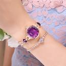 Fashion Sweet Small Fine Bracelet Quartz Watch Love Rhinestone Student Bracelet Watch wholesale nihaojewelry NHSS220633
