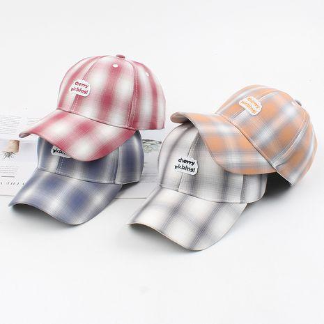 Gorra de béisbol primavera y verano marea nueva calle sombrero para el sol moda coreana hombres y mujeres enrejado moda casual gorra de bordado venta al por mayor nihaojewelry NHXO220686's discount tags