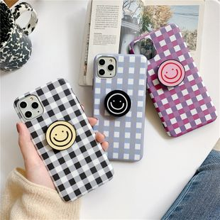 Korean style smiley face iphone11xs xr Promax mobile phone case wholesale nihaojewelry NHFI220705's discount tags