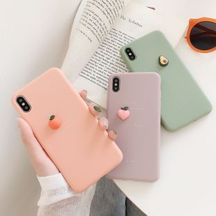 Orange peach avocado 8plus mobile phone shell suitable for iphone XSMAX XR 7plus painted TPU soft phone case NHFI220707's discount tags