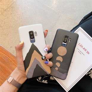 fashion new simple  sunset mountain peak mobile phone shell suitable for Samsung s8 or s9 +  note8  note9  S10 all-inclusive soft phone case nihaojewelry wholesale NHFI220710's discount tags