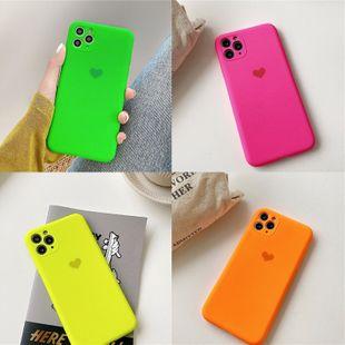 love solid color silicona funda para teléfono móvil para iphone11Promax precision hole apple XS XR 8plus funda para teléfono NHFI220712's discount tags
