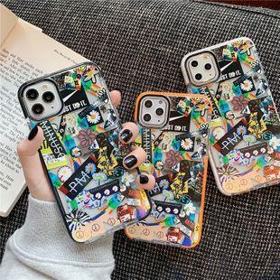 El nuevo teléfono móvil Shell Tide Brand Crisantemo es adecuado para iPhone xs max11pro estuche blando anti-caída 8plus al por mayor nihaojewelry NHFI220715's discount tags