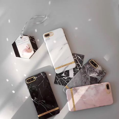 Phnom Penh marble xsmax mobile phone case for Apple 11pro iphone7 8plus phone case wholesale nihaojewelry NHFI220718's discount tags