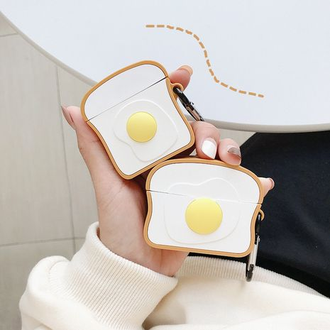 Airpods Pro3 generation headset protective sleeve toast egg for iPhone AirPods 2 wireless Bluetooth headset wholesale nihaojewelry NHFI220721's discount tags