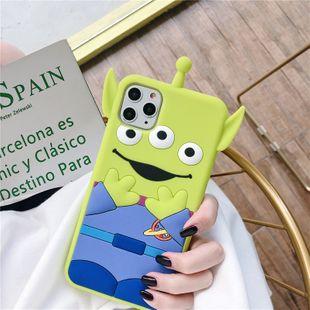 Funda de teléfono móvil tridimensional de dibujos animados lindo de tres ojos iPhone 11Promax para iphonexs 7 8plus funda de teléfono de silicona al por mayor nihaojewelry NHFI220727's discount tags