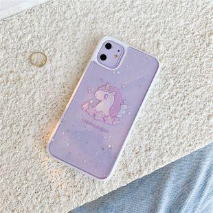 Purple Unicorn iPhone 11 Promax funda para teléfono móvil para iphone7 8plus XS funda blanda con todo incluido XR SEwholesale nihaojewelry NHFI220732's discount tags