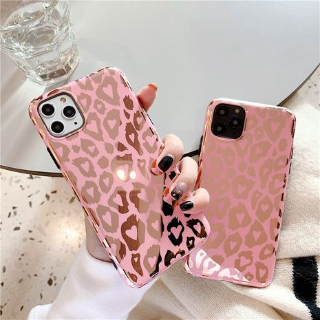 tide brand bronzing powder Leopard iPhone11 Promax mobile phone case for XS Max XR iPhoneX wholesale nihaojewelry NHFI220737's discount tags