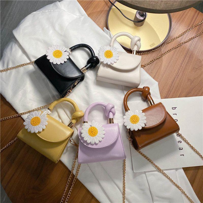 Summer new Korean fashion daisy mini handbag fashion wild chain shoulder diagonal bag wholesale nihaojewelry NHPB220802