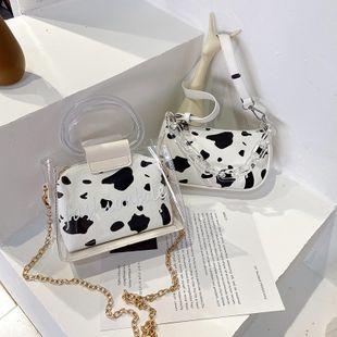 Verano nueva ola punto vaca cadena de impresión portátil crossbody bolsa casual transparente solo hombro axila bolsa venta al por mayor nihaojewelry NHPB220809's discount tags
