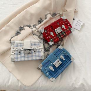 Nuevo verano retro wild lattice lock bandolera cadena de moda crossbody box bag marea venta al por mayor nihaojewelry NHPB220815's discount tags