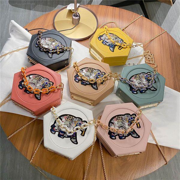 new summer personality cartoon elephant shoulder messenger bag fashion trendy wild chain handbag wholesale nihaojewelry NHPB220827