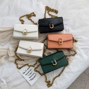 Nueva bolsa de sobres de patrón de cocodrilo de moda de verano empalme cadena de bloqueo solo mensajero de hombro bolso cuadrado pequeño al por mayor nihaojewelry NHPB220837's discount tags