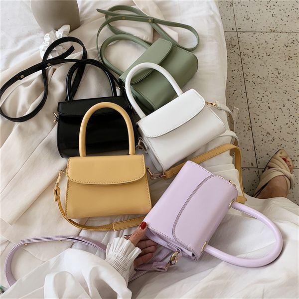 Summer new wave retro wild handbag temperament solid color shoulder messenger bag wholesale nihaojewelry NHPB220838