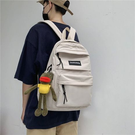 Schoolbag new Korean fashion high school Harajuku large capacity tooling wind student wild backpack  wholesale nihaojewelry NHHX220844's discount tags