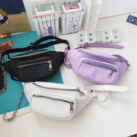 Korean fashion chain small black bag Hong Kong style retro wild waist bag chest bag  wholesale nihaojewelry NHHX220846's discount tags