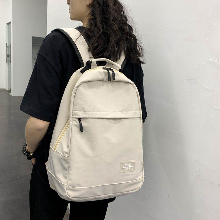 Korean fashion vintage sense wild casual waterproof large capacity school bag Hong Kong style retro backpack  wholesale nihaojewelry NHHX220847