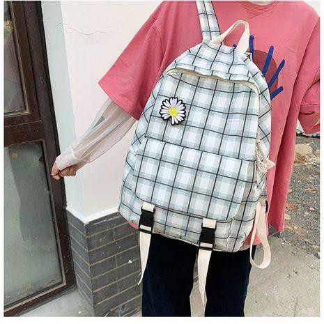 Korean fashion daisy flowers student plaid canvas shoulder bag department vintage sense girl bag  wholesale nihaojewelry NHHX220856's discount tags
