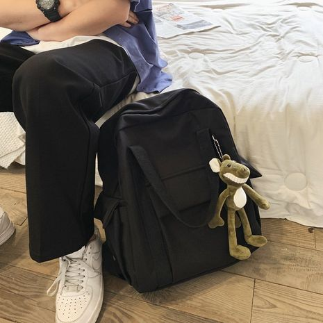 Korean fashion backpack retro multi-pocket wild student casual schoolbag  tooling wind couple backpack  wholesale nihaojewelry NHHX220861's discount tags
