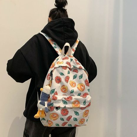 Schoolbag Korean fashion Harajuk college student backpack printed fruit large capacity backpack  wholesale nihaojewelry NHHX220862's discount tags