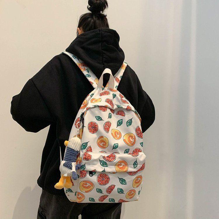Schoolbag Korean fashion Harajuk college student backpack printed fruit large capacity backpack  wholesale nihaojewelry NHHX220862