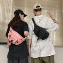 Korean Harajuku style couple solid color multipocket tool messenger bag street shot tide brand functional shoulder bag  wholesale nihaojewelry NHHX220877