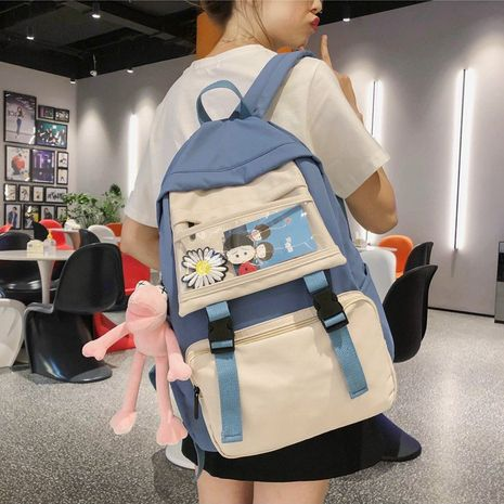 Schoolbag Korean high school Harajuku style junior high school student backpack  wholesale nihaojewelry NHHX220884's discount tags