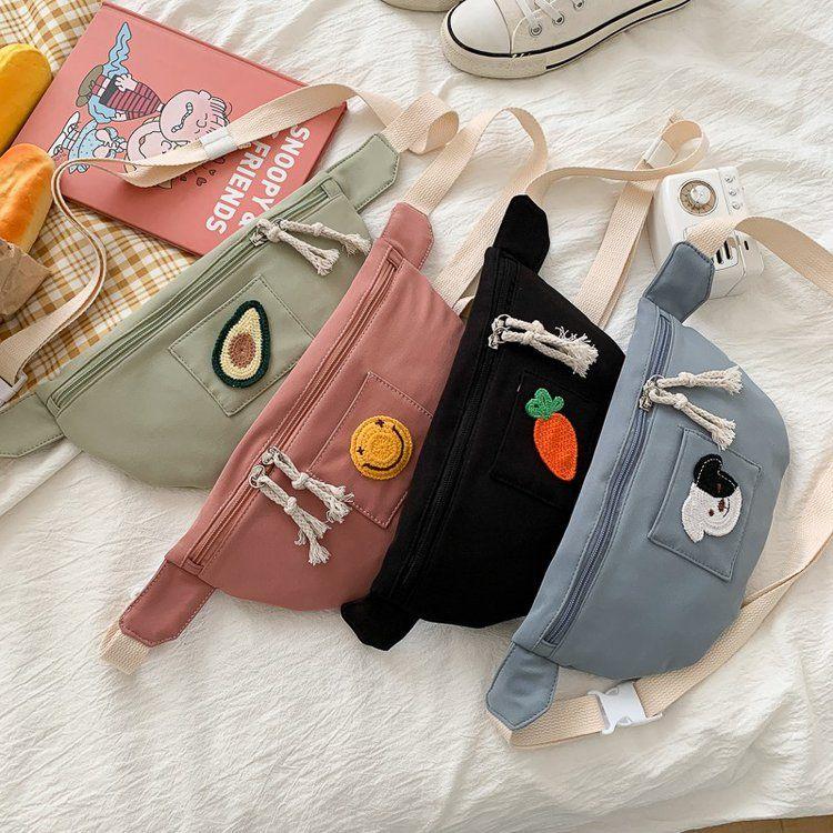 Korean fashion ulzzang style and cute cartoon student canvas messenger bag sweet wild girl bag  wholesale nihaojewelry NHHX220894