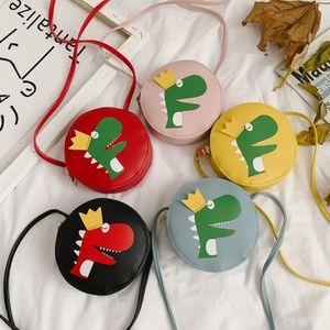 Bolso de bebé de dinosaurio de dibujos animados de moda mini bolso de hombro para bebé monedero lindo bolsa de almacenamiento para niña nihaojewelry al por mayor NHGA220949