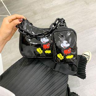 Mickey cartoon bag shoulder bag armpit bag summer new fashion chain messenger bag wholesale nihaojewelry NHGA220956's discount tags
