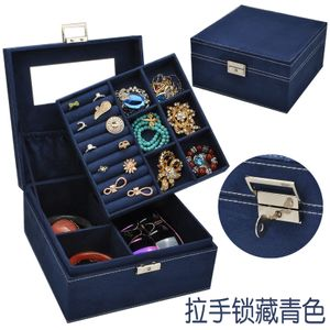 nueva caja de joyería de terciopelo pequeña plaza doble caja de almacenamiento de terciopelo caja de joyería caja de almacenamiento al por mayor nihaojewelry NHHW220977