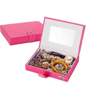 caja de joyería nueva caja de almacenamiento de joyería de cuero caja de joyería caja de joyería coreana al por mayor nihaojewelry NHHW220978
