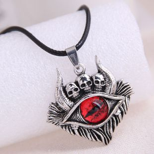 fashion retro skull demon eye trend men's domineering retro exaggerated necklace wholesale nihaojewelry NHSC221093's discount tags