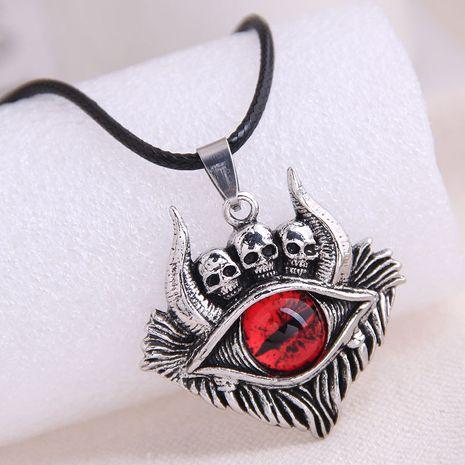 mode rétro crâne démon oeil tendance hommes dominateur rétro exagéré collier en gros nihaojewelry NHSC221093's discount tags