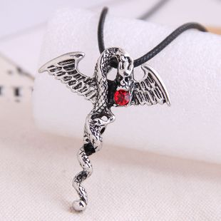 fashion retro devil stick trend men's domineering retro exaggerated necklace wholesale nihaojewelry NHSC221088's discount tags