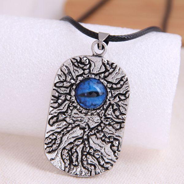 fashion retro shield devil's eye trend men's domineering retro exaggerated necklace wholesale nihaojewelry NHSC221086