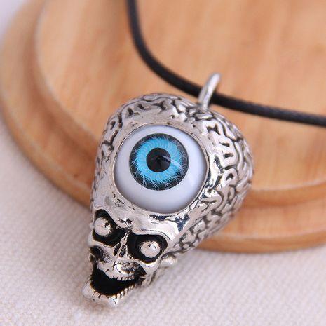 mode rétro tendance hommes dominateur rétro crâne oeil de démon exagéré collier en gros nihaojewelry NHSC221081's discount tags
