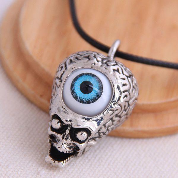 fashion retro trend men's domineering retro skull demon eye exaggerated necklace wholesale nihaojewelry NHSC221081