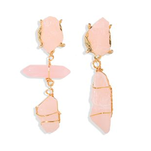nihaojewelry wholesale irregular geometric resin earrings fashion cold wind pure hand-wrapped copper wire earrings NHJQ213459's discount tags