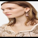 nihaojewelry wholesale irregular geometric resin earrings fashion cold wind pure handwrapped copper wire earrings NHJQ213459