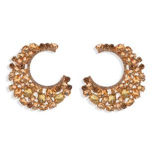 Meniscus diamond earrings nihaojewelry wholesale fashion earrings catwalk jewelry exaggerated earrings NHJQ213460's discount tags