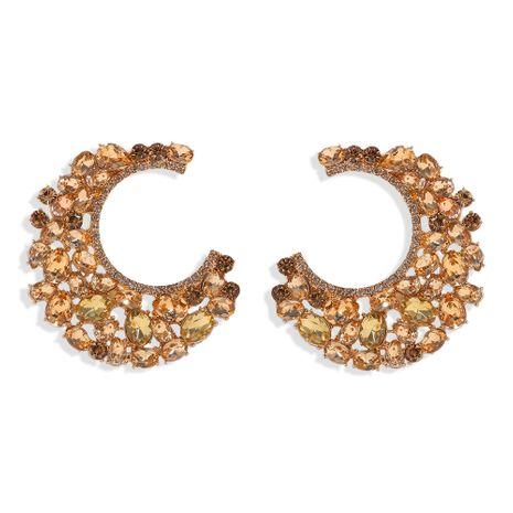 Boucles d'oreilles diamant ménisque nihaojewelry boucles d'oreilles en gros de mode bijoux de passerelle boucles d'oreilles exagérées NHJQ213460's discount tags