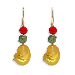 nihaojewelry wholesale conch stone beads earrings fashion holiday style earrings NHJQ213463's discount tags
