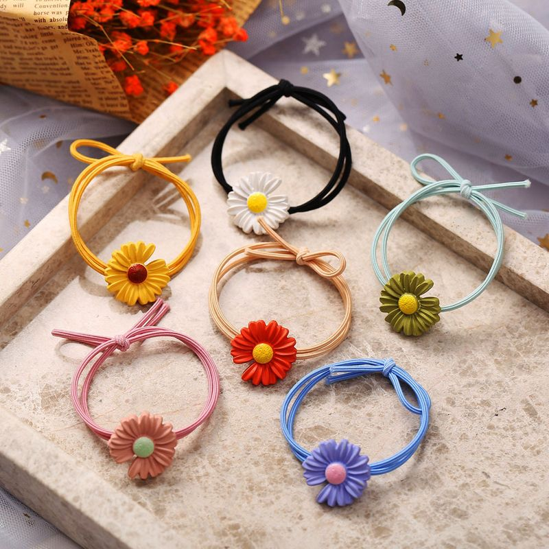 Fashion little daisy hair rope set yiwu nihaojewelry wholesale rubber band girls hair accessories NHPJ213477